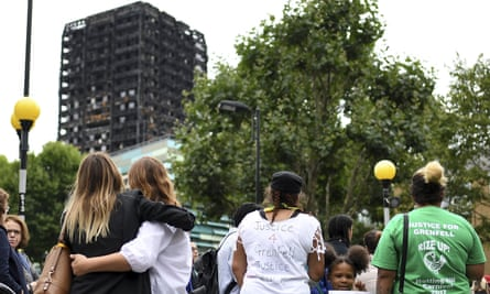 A silent march on 14 August marked two months since the Grenfell Tower disaster.