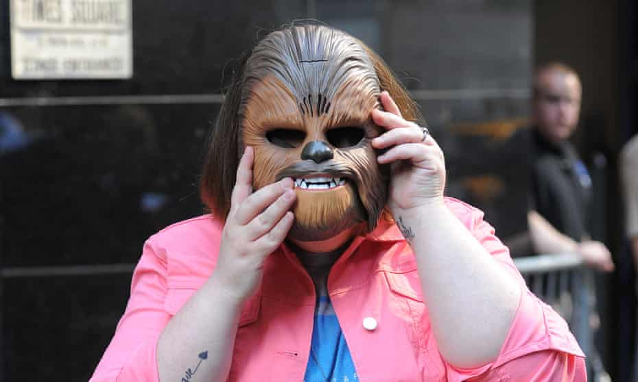 Candace Payne the woman behind the megaviral Chewbacca Video does Good Morning America.