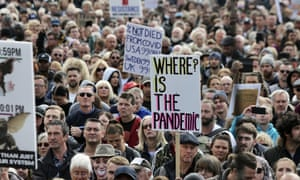A protest in London against vaccination and coronavirus measures