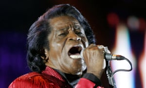 James Brown performs in 2005.