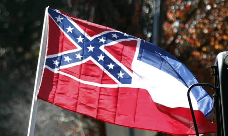 Mississippi is the only southern state with the Confederate symbol still present on its state flag. Nykolas Alford, another protester, said: 'This [bill] is like Jim Crow for the gays.'