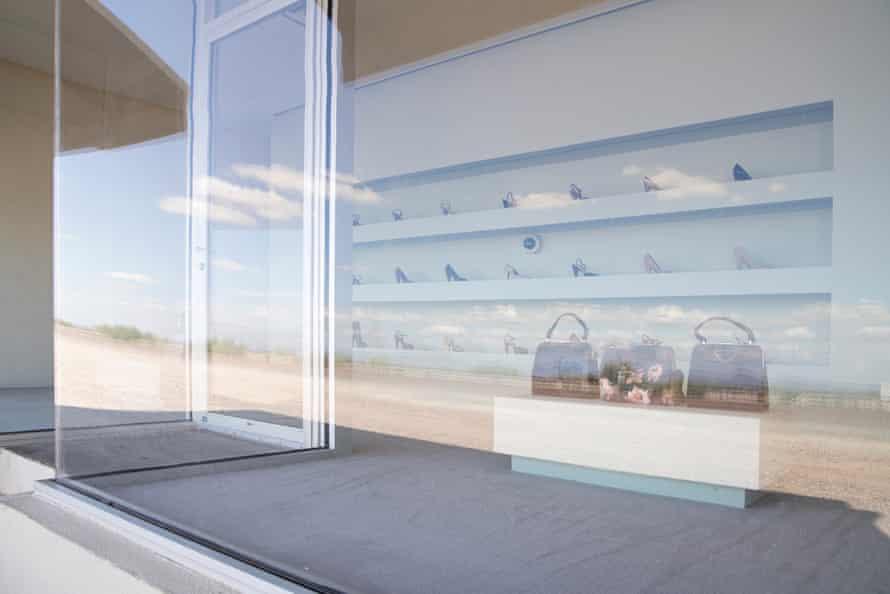 Miuccia Prada donated shoes and purses to the artwork.