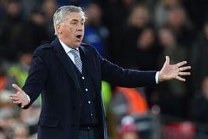 Everton's Italian head coach Carlo Ancelotti.