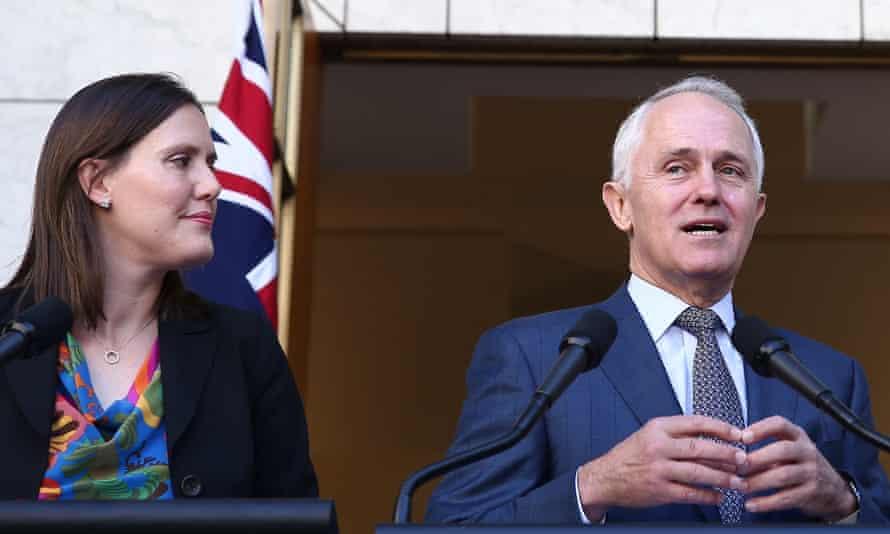 Kelly O'Dwyer with Malcolm Turnbull