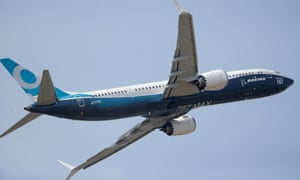 A Boeing 737 Max at an airshow