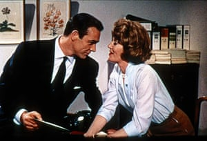 With Lois Maxwell in From Russia With Love (1963).