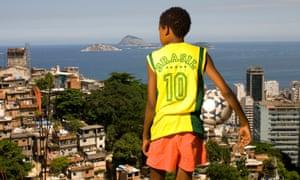 A boy in a Rio de Janeiro favela, Brazil.