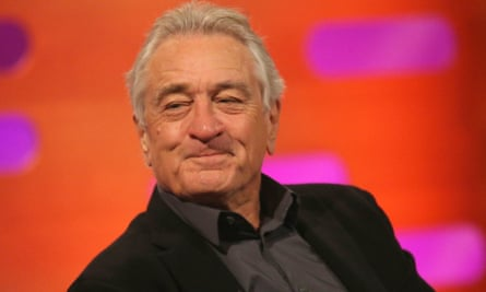 Robert De Niro during filming for The Graham Norton Show on Friday.