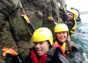 'Coasteering is one of the few outdoor activities where the fun is not diminished by the rain; if anything, it adds to the atmosphere'