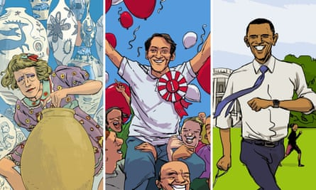 Grayson Perry, Harvey Milk and Barack Obama, from Stories for Boys Who Dare to Be Different.