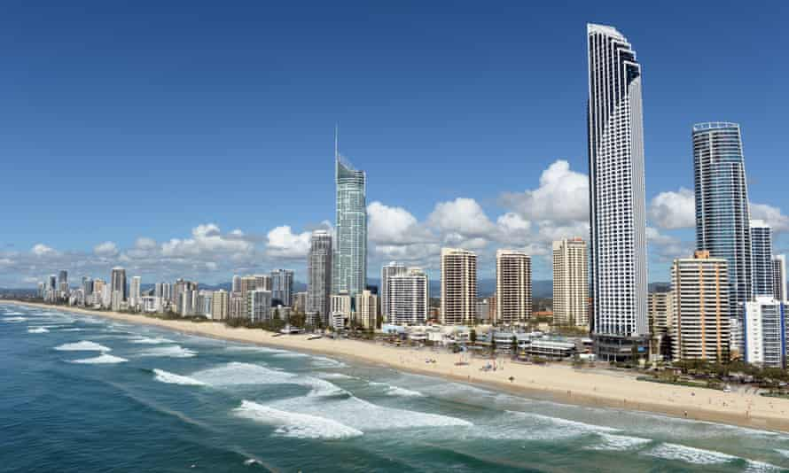Surfers Paradise and Main Beach on the Gold Coast.