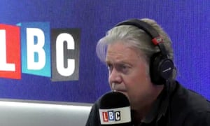 Steve Bannon defending Tommy Robinson on LBC