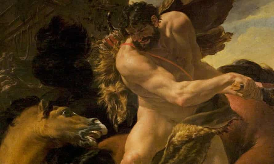 Definitely not horseplay ... painting by Charles Le Brun, 1638-1642.