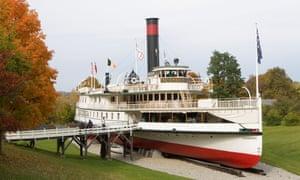 The Triconderoga steamboat Shelburne Museum.