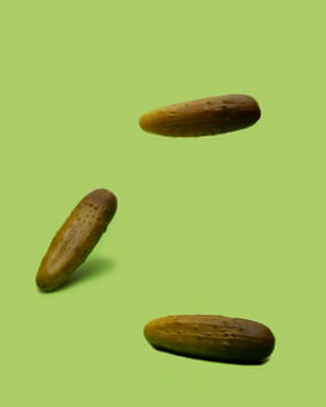 Bouncing pickles, from photographer Olivia Locher's I Fought the Law series