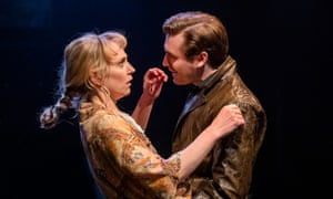 Hattie Morahan as Lady Torrance and Seth Numrich as Valentine Xavier in Orpheus Descending at Menier Chocolate Factory, London.
