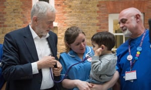 Labour leader Jeremy Corbyn campaigning at the Florence Nightingale Museum, St Thomas' hospital in London.