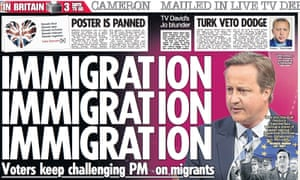The Sun's take on the David Cameron TV grilling.