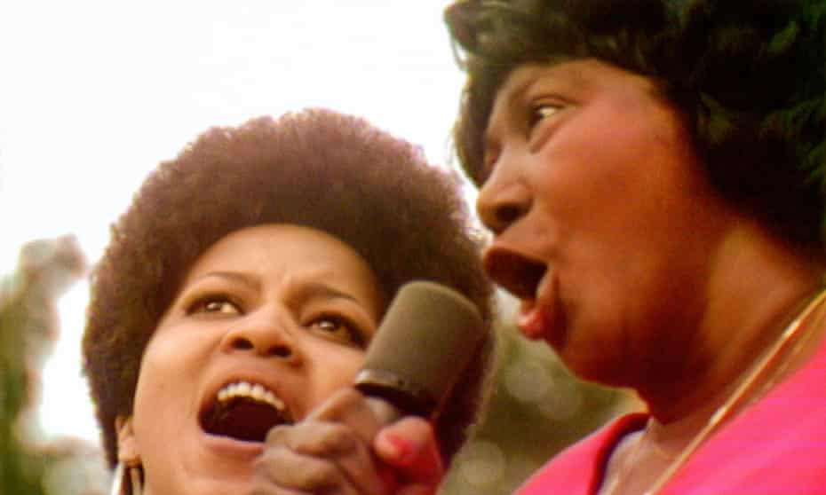Mavis Staples and Mahalia Jackson in Summer of Soul.
