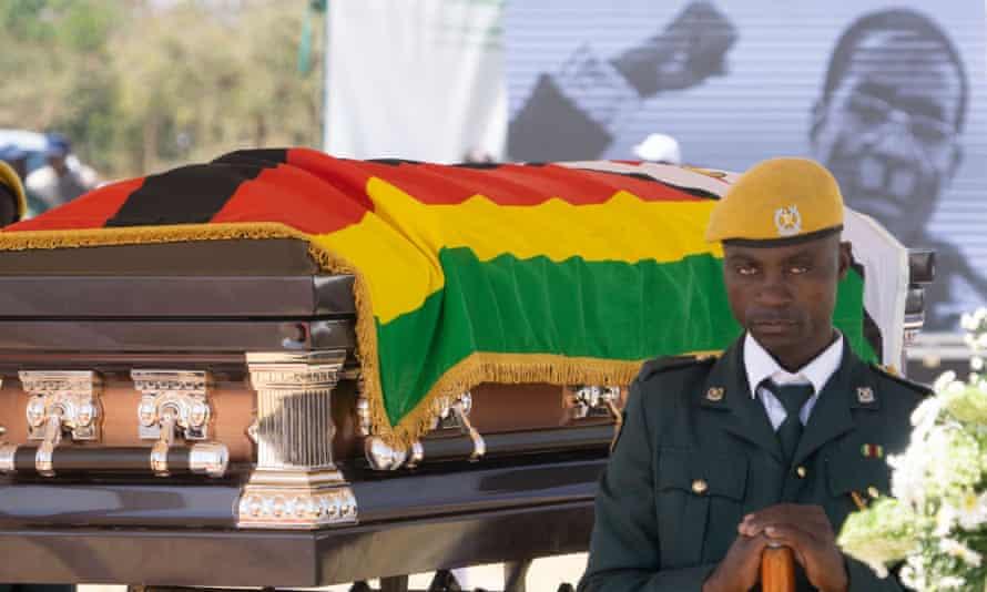 Robert Mugabe's coffin lying in state