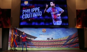 Barcelona present new signing Philippe Coutinho