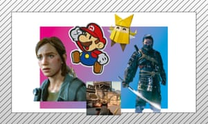 Clockwise from left: The Last of Us Part II; Paper Mario: The Origami King; Ghost of Tsushima; Valorant.