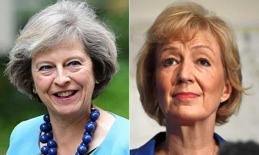 Theresa May (L) and Andrea Leadsom.