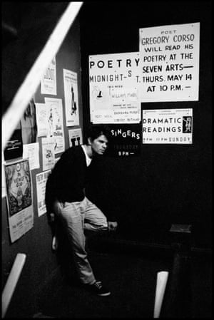 New York City 1959 The book sees Glinn's atmospheric imagery (here, writer Gregory Corso is shot in the stairwell at the Seven Arts Coffee Gallery) fittingly paired with a previously unpublished essay by Jack Kerouac, entitled And This Is The Beat Nightlife of New York