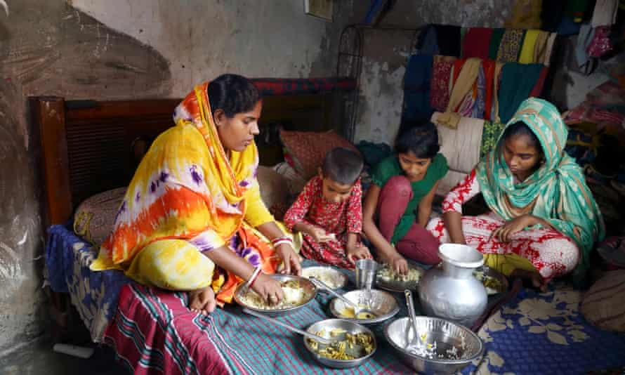 Chameli and her daughters live in a 3.6 metre by 2.4 metre room in Dhaka.