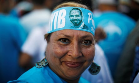 Nayib Bukele has gained widespread support on the back of his anti-corruption message.