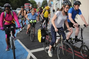 'Most of the risk of severe injury is imposed on cyclists by motorists' ... rush hour near Waterloo station.