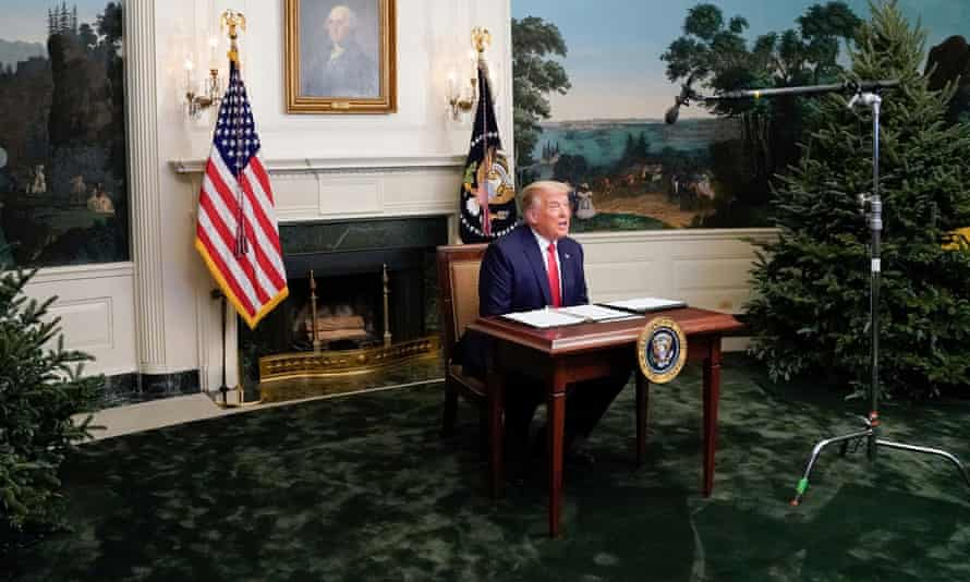 Donald Trump at the White House on 26 November 2020.