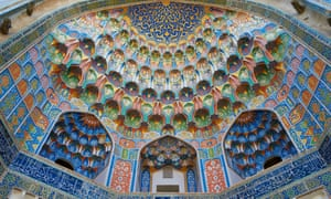 Uzbekistan took the best silk road destination award. This is the entrance to the Abdul Aziz Khan Madrasah in Bukhara, a Unesco world heritage site.