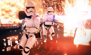 A promotional image for Star Wars Battlefront 2.