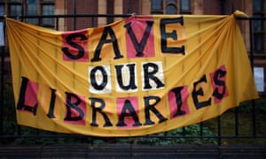 Library closure protest