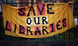 Library protest