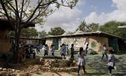 The school in Khan al-Ahmar, a Bedouin village in the West Bank