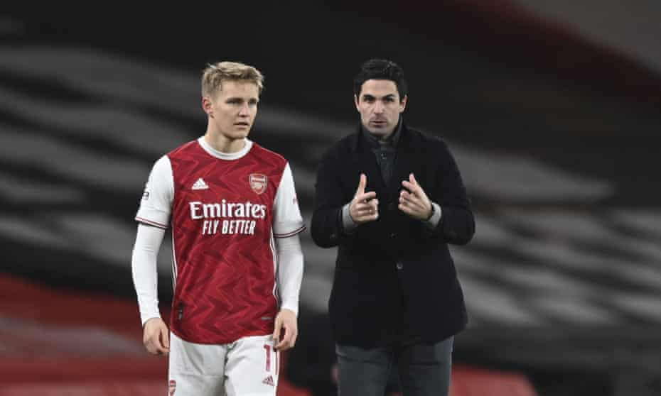 Mikel Arteta will be able to call on the midfielder Martin Ødegaard for Arsenal's Carabao Cup tie at West Brom.