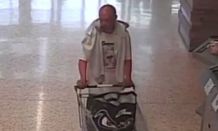 CCTV footage of Iuean Harley, 23 in a Morrisons
