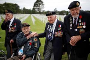 D-day veterans in Colleville-sur-Mer, France