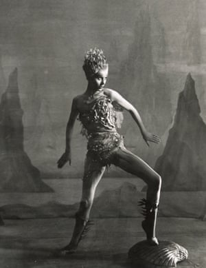 Margaret Leighton plays Ariel in The Tempest at the Shakespeare Memorial Theatre, 1952.