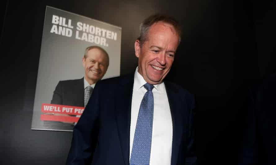 """Federal opposition leader Bill Shorten is seen during the launch of his """"Queensland Jobs Not Cuts"""" bus tour in Beenleigh, south of Brisbane, January 17, 2019."""