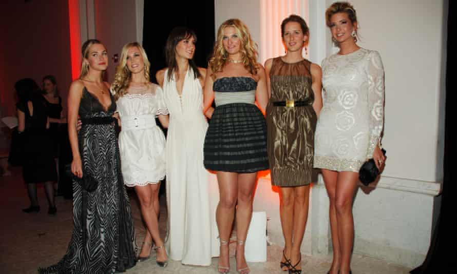 Jacqueline Sackler at the American Museum of Natural History on 13 February 2007 in New York City, with Amanda Hearst, Tinsley Mortimer, Ivanka Trump, Zani Gugelmann and Claire Bernard.