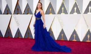Brie Larson arrives for the 88th annual Academy Awards ceremony, which was criticized for its all-white actor nomination list.