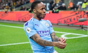 Raheem Sterling's Manchester City will host Arsenal when the Premier League resumes.