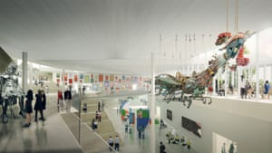 The Japanese firm SANAA's rendering of the Sydney Modern project's atrium