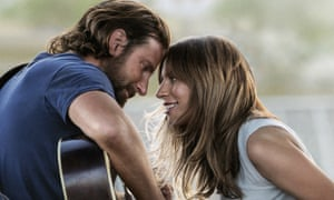 Bradley Cooper, left, and Lady Gaga in a A Star is Born.