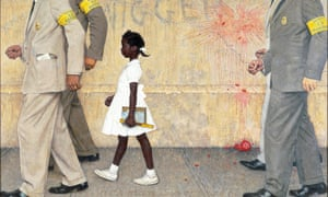 Norman Rockwell's The Problem We All Live WIth, on display at the New York Historical Society Museum.