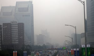 Heavy smog in Beijing on September 22. Urban smogs contributed to an estimatee 670,000 deaths in 2012.