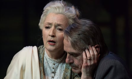 'A tour de force': Leslie Manville, with Jeremy Irons, in Long Day's Journey Into Night.